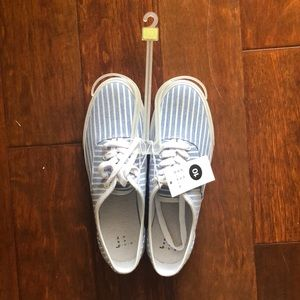 Target blue and white striped shoes